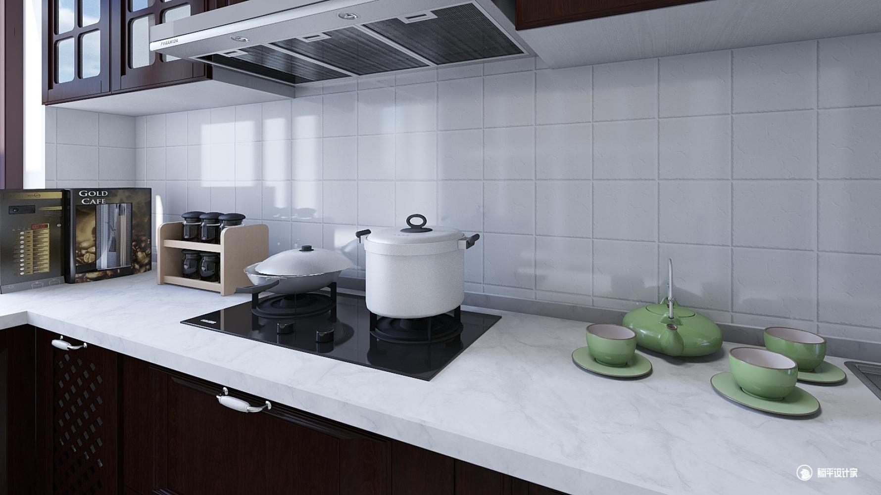 混搭风格三室两厅装修设计效果图