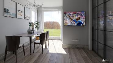 现代风格一室一厅装修设计效果图