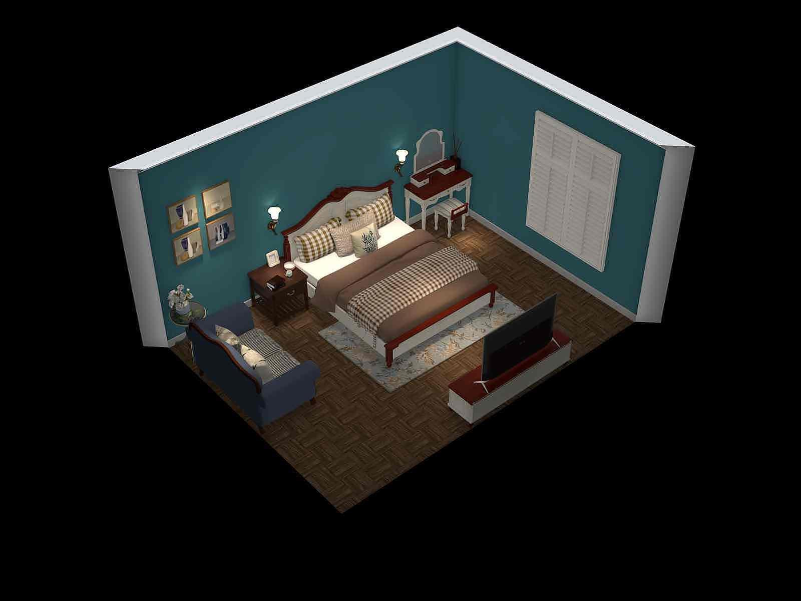 田园风格一室装修设计效果图