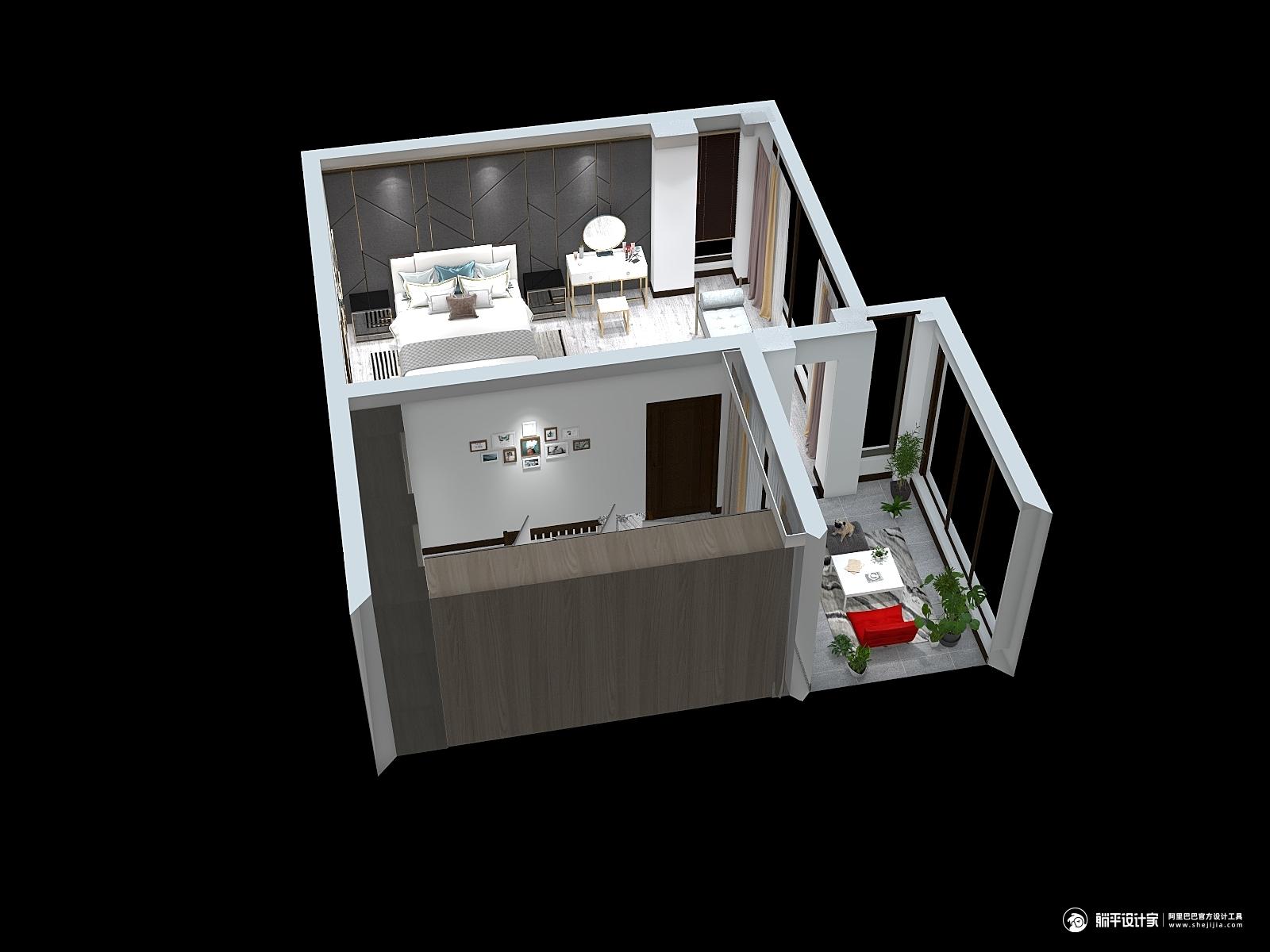 中式风格三室装修设计效果图