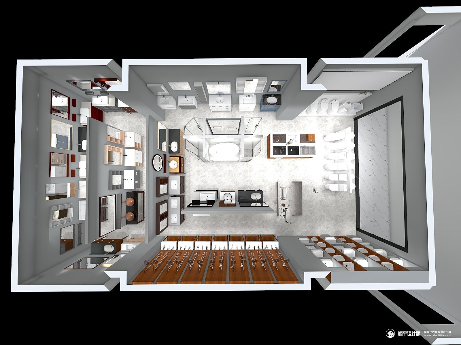 现代风格一室装修设计效果图