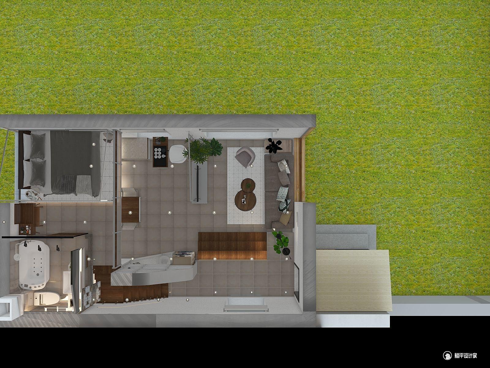 北欧风格一室一厅装修设计效果图