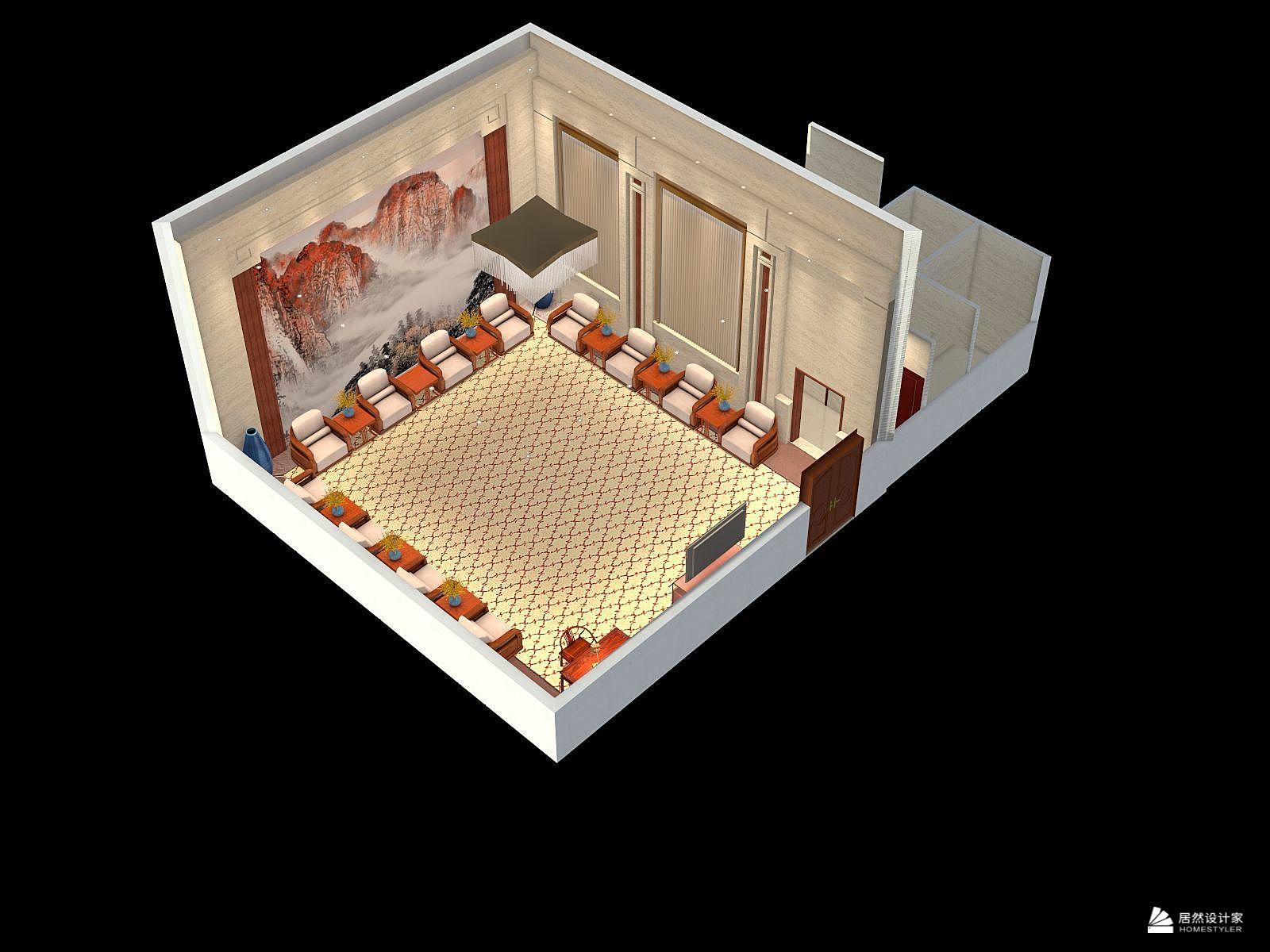 新古典风格一厅装修设计效果图
