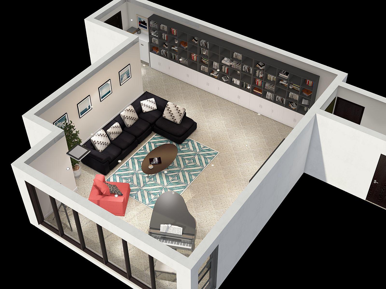 地中海风格一厅装修设计效果图