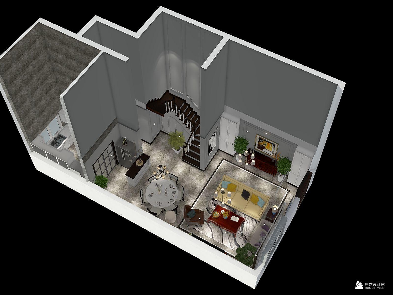 欧式风格五室三厅装修设计效果图