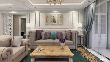欧式风格三室三厅装修设计效果图