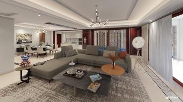 混搭风格七室两厅装修设计效果图