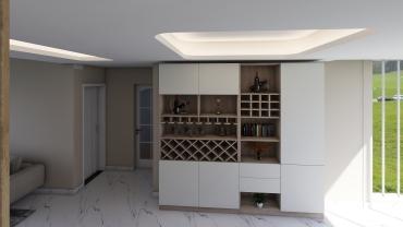 现代风格五室两厅装修设计效果图
