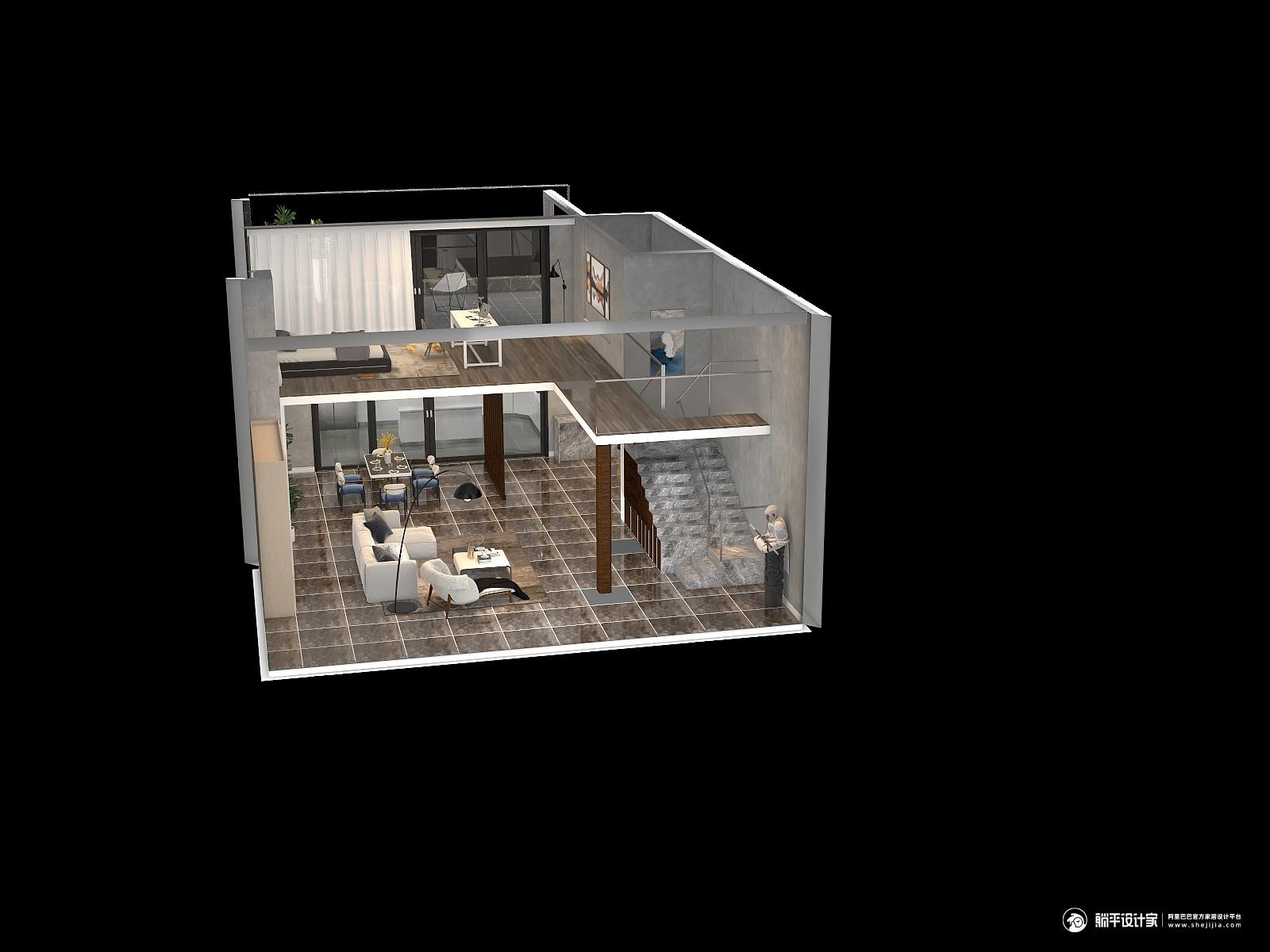 现代风格一室两厅装修设计效果图