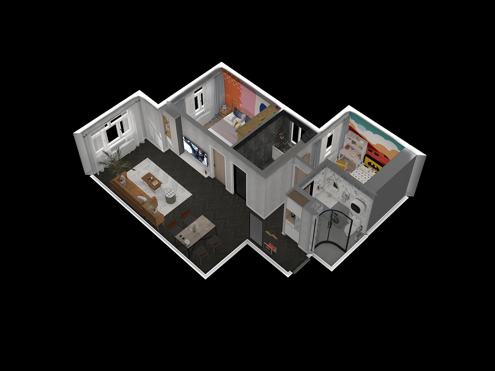 北欧风格两室一厅装修设计效果图