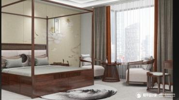中式风格四室四厅装修设计效果图