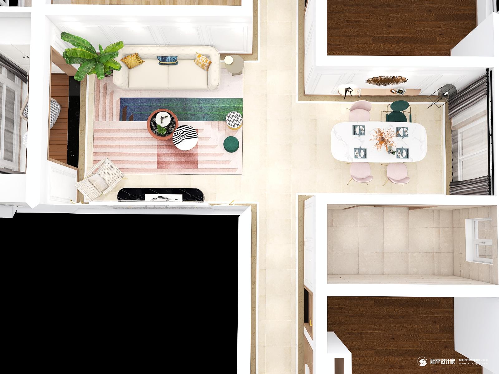 新古典风格四室两厅装修设计效果图