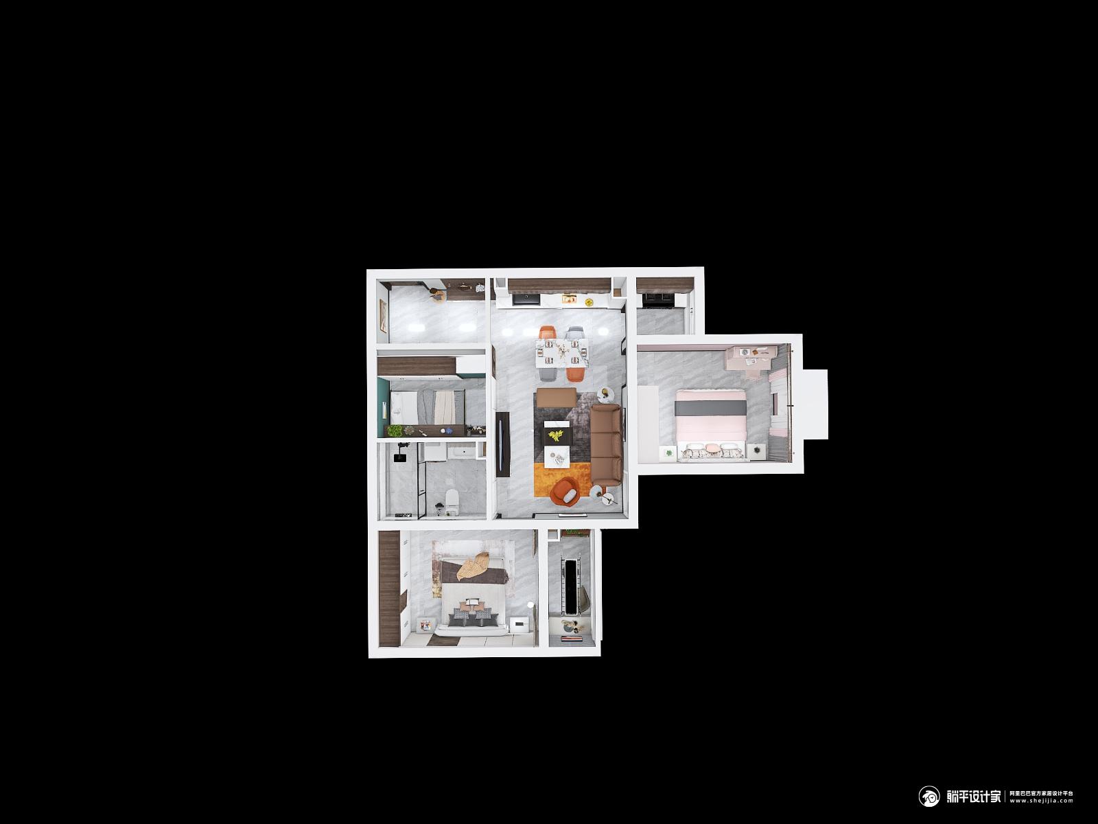 其它风格三室三厅装修设计效果图