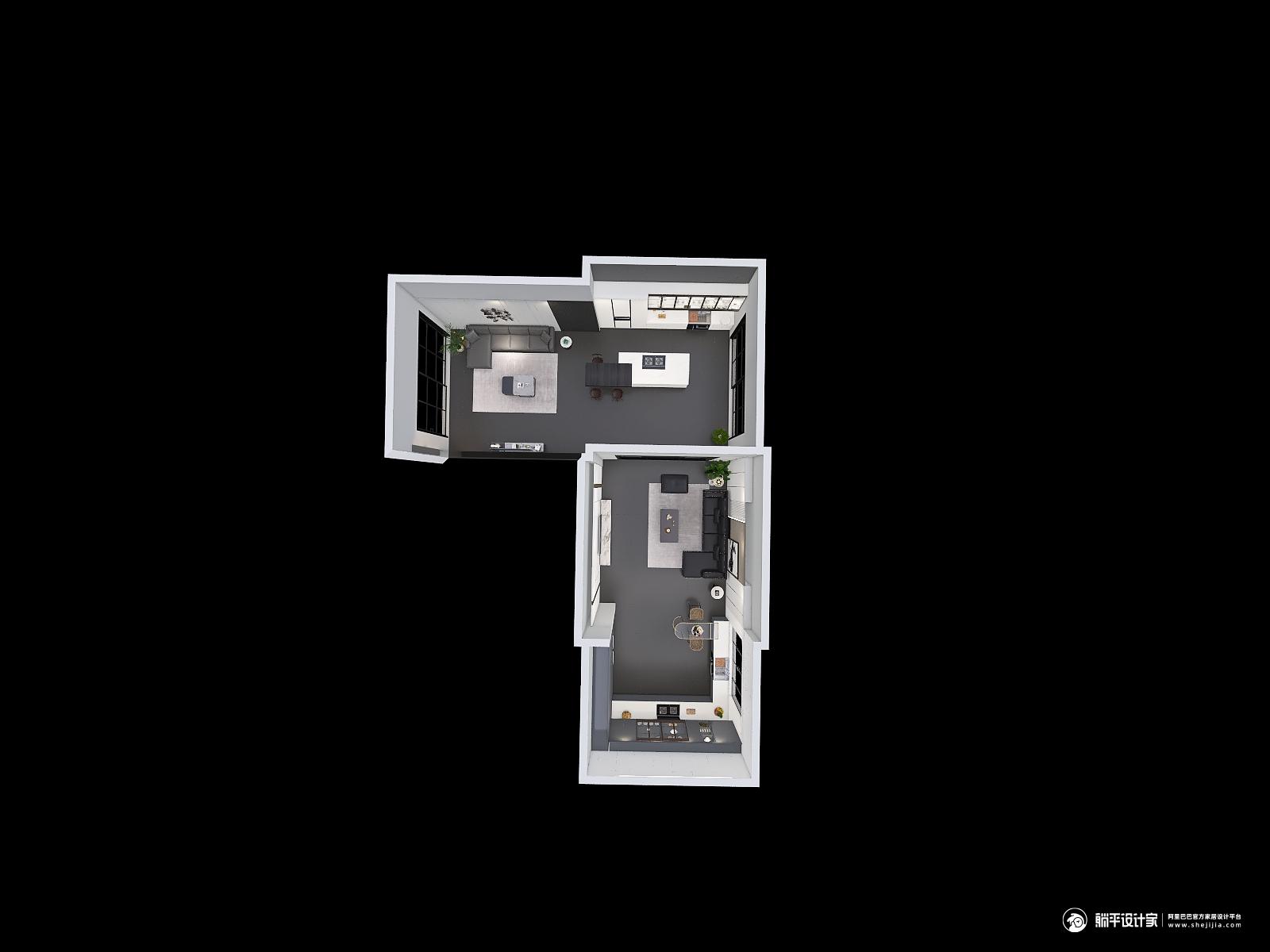 现代风格四厅装修设计效果图