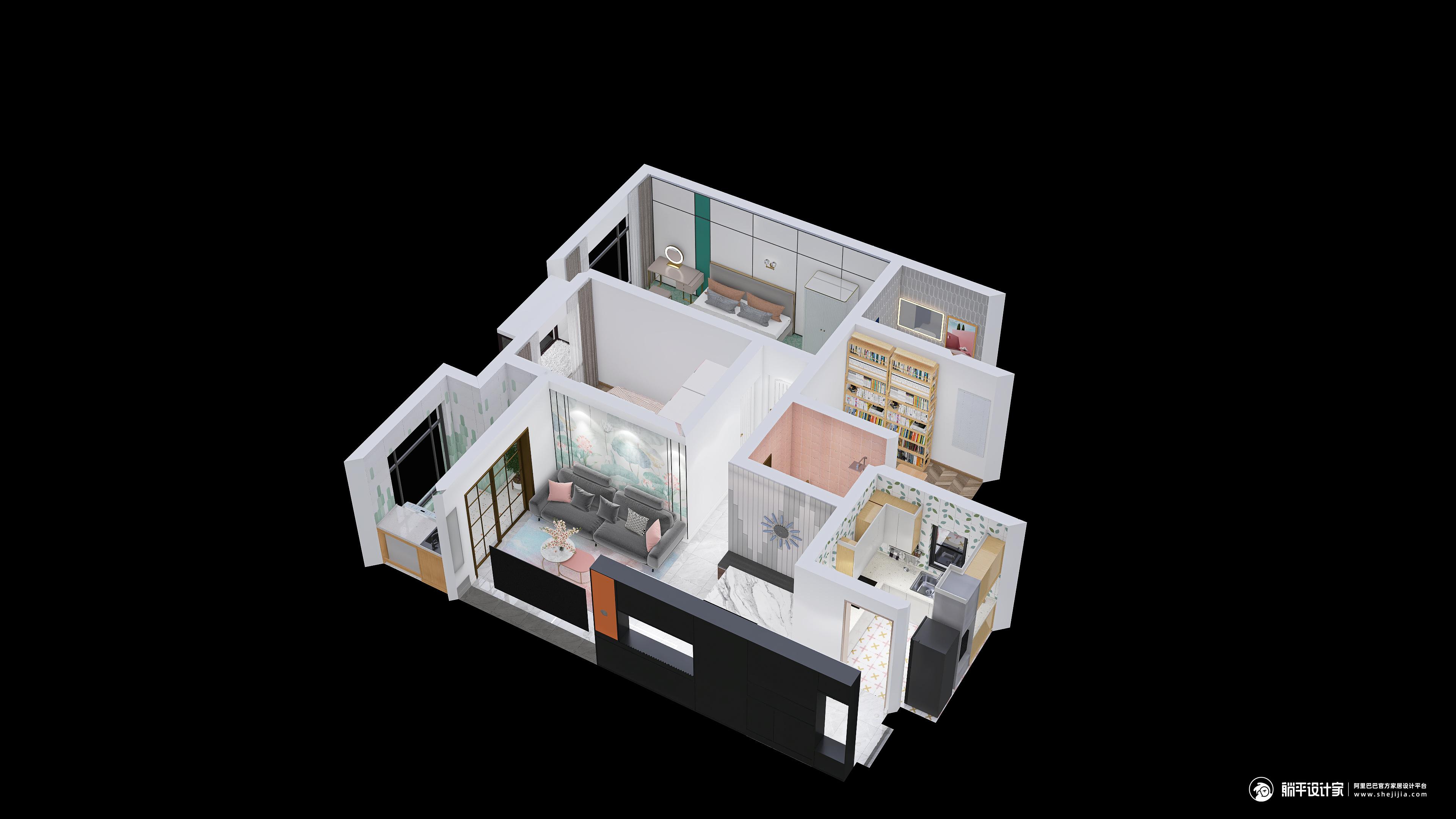 田园风格两室两厅装修设计效果图